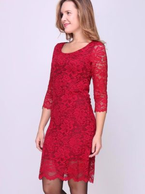 Deep Red Lace